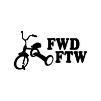 FWD FTW Decalcomania del vinile auto camion finestra Sticker JDM Drift Turbo Fast Hoonigan
