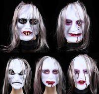 Wholesale terror mask face online - New Halloween masks of terror grimace masks of Scary ghost masks