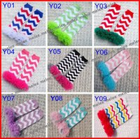 Wholesale Infant Tights Lace - 10Pairs Retail christmas girls boys Chevron Baby Leg Warmers Legging Tights infant toddler ruffle lace Arm warmers halloween drop shipping