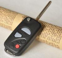 nissan key fob fernbedienungen großhandel-Flip Folding Remote Key Shell für NISSAN A33 Maxima Sentra Schlüsseletui Fob 4 Tasten