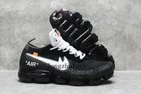 Wholesale Total Rubber - 2018 New 10 X Off White Vapormax Running Shoes For Men & Women, Black Total Crimson-Clear Off-white Vapormax Sport Sneakers AA3831-002