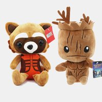 Wholesale Guardian Tree - New 22-25cm Guardians of the Galaxy plush doll Tree people groot rocket raccoon plush Children's gift for Christmas