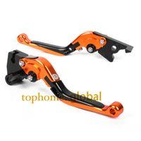 Wholesale Motorbike Levers - otocycle Accessories Parts Motorbike Brakes CNC Folding&Extending Brake Clutch Levers For KTM Duke 390 2012-2014 Orange&Black&amp...