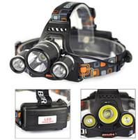 Wholesale boruit flashlight - BORUIT 5000Lm 3xCREE XM-L T6 LED Headlight Headlamp Head Lamp Flashlight Torch