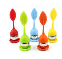 Tea Infuser Tools Leaf Silicone With Food Grade Make Tea Bag Filter 6 Colors Stainless Steel Tea Strainers