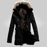 Wholesale Winter Jacket Fur Hood Mens - winter mens jacket big size xxxl wadded free shipping fashion male's cotton coat thicken Parkas men's coat Fur collar hood 95wj
