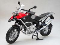 jouet de moto moulé sous pression achat en gros de-Nouveau jouet modèle de moto Diecast R1200GS Zinc Alloy 1:12