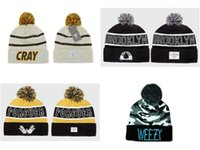 Wholesale Cray Hat - Wholesale-2015 NEW weezy camo beanies forever brooklyn winter knit lastkings cool hats women's men's paris fuckin' cite cray