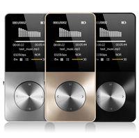 спортивный динамик оптовых-Металл MP3 MP4-плеер 8 ГБ 16 ГБ Видео Спорт MP4 Flash HIFI Тонкий MP4-видео плеер Радио-рекордер Walkman с динамиком
