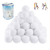 Wholesale Old Christmas Stockings - Indoor Snowball Fight Christmas Gift Snowball Plush Toys Ball 20pcs Barrel FIGHTING SNOW BALL