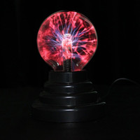 Wholesale Magic Tree Wholesale - Wholesale- 3 inch Magic Plasma Ball Retro Light Kids Room Decor Gift Box Lightning Light Lava Lamp Christmas Party Decor Cristal Lamp