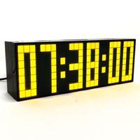 Wholesale Electronic Table Calendar - Large LED Snooze Digital Table Clock Alarm Clock Calendar Temperature Clock Decor Wall Clock Brightness Control Electronic Desk Clock