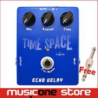 Wholesale Digital Time Delay - Caline CP17 Time Space Echo Delay Digital Guitar effect Pedal 600ms Max True Bypass Free Drop shipping Wholesale Free connector MU0143