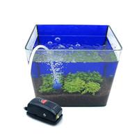 Wholesale Air Pump Mini Aquarium - Mini Aquarium Air Oxygen Pump for Fish Tank Super Silent 3W 220-240V Airpump US EU UK plug