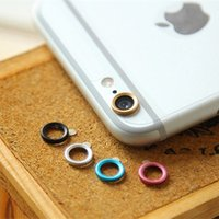 Wholesale Metal Jewelry Hoops - Jewelry Rear Camera Glass Metal Lens Protector Hoop Ring Guard Circle Case Cover For iphone 6 4.7 & plus 5.5 Inch Retail Package