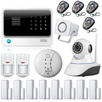 Wholesale Wireless Home Alarm Systems Kit - Internet WiFi GSM GPRS Home Security Alarm System G90B alarm Kit home Security WIFI alarm system