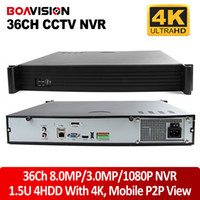 Wholesale Ip Cctv Software - New 1.5U Casing 8MP 3MP 2MP 36Ch CCTV NVR 4K For 3MP 1080P IP Camera Network Video Recorder Free CMS Software Onvif P2P View,4X Sata HDD