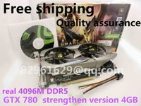 Wholesale Vga Free - Wholesale-Free shipping gtx780 game graphics really 4G DDR5 independent pci-e computer desktop with tracking number PK 750ti 680 770 GTX