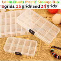 Wholesale Wholesale Loom Band Storage Box - Wholesale-Jewelry carrying cases,Clear Beads Display,loom bands Plastic Storage Box Case,jewelry packaging&display Box,10,15,24