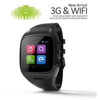 Wholesale Gsm Watch Phone 3g - 3G WCDMA Smart Watches Smartwatch Gsm Single Sim Goophone Smart Watch 1.3GHz Coretex A7 Dual Core A7 Smart Phone GX-BW24B