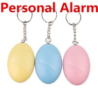 Wholesale Decibel Alarm - Personal Alarms Bell Tama Loud Safe Stable 120 Decibels Mini Portable Keychain Alarm Safe Football Panic Anti Rape Attack Safety Security