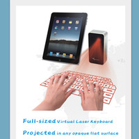 Wholesale promotional usbs - Freeshipping Promotional gift virtual laser projection keyboard with mouse via usb for notebook,cellphone,macbook computer via usb bluetooth