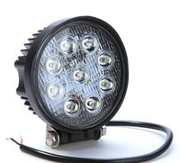Wholesale High Power Car Leds - Automotive work lights 2150LM 27W High-power 9X 3W Bead LEDs working light Round Offroad LED car Work Light bar