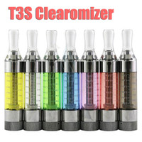 Wholesale T3s Clearomizer Wholesale - Kanger T3S clearomizer rebuildable atomizer tank copy protank gs h2 Replaceable coils 4 ego battery e cig cigs electronic cigarette DHL free