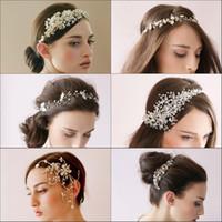 Wholesale Cheap Faux Pearl Jewelry - 2015 Romatic Hot Cheap Bridal Crowns Bridal Jewelry Pearl Crystal Tiara Wedding crown Wedding Accessories Fascinators Bridal Hair Clips