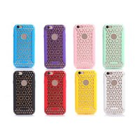 Wholesale Iphone4 Handbag - PC TPU Cell Phones Cases Waterproof Shockproof Resistant Phone Covers Universal 8 Colors Covers for Iphone4 5 6 ZCNM