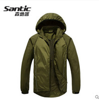 Wholesale Detachable Bike - SANTIC Detachable Men's Cycling Jerseys Bike Clothing Windproof Bicycle Jackets Removable Breathable Cycling Wear