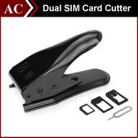 cortador de tarjeta sim estándar al por mayor-Dual SIM Card Cutter Maker 5 en 1 Micro Nano Adaptador Estándar + Expulsar Pin Para iPhone 5S 6 6S Plus Samsung Galaxy HTC La mejor calidad gratuita DHL