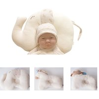 Barato Almofada Do Headrest Das Crianças-Atacado- Soft Baby Animal Elefante travesseiro Child Care Cushion Safety Headrest Viagem Cloud Pillow Recém-nascido Baby Sleeping Protective Pillow