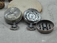 варочная панель оптовых-Funny Herb Табак Grinder Карманные часы Форма Металлический сплав 45 * 20 мм Cigar Spice Crusher Катушка для сигарет Машина для рубления Вращающаяся труба