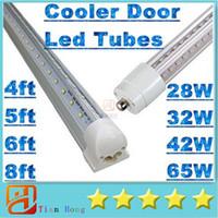 Wholesale V Shaped Led Light Bar - ul T8 4ft 5ft 6ft 8ft Cooler Door Led Tubes Single Pin FA8 Integrated V-Shaped 270 Angle Led Light Tube AC 85-265V