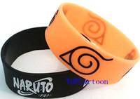 Wholesale Silicone Bracelet Mix Color - Wholesale 50 pcs set New Naruto Wristbands Silicone Bracelets Mix color SH112