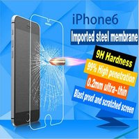 Wholesale Sticker Mirror For Phone - Iphone6 toughened glass membrane toughened membrane apple 6 wholesale mobile phone protective film toughened sticker factory