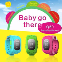 Wholesale quad band smart watch online – Q50 Kids LBS Tracker Children Smart Watch Phone SIM Quad Band GSM Safe SOS Call PK Q80 Q90 For Android IOS smart watch sim card