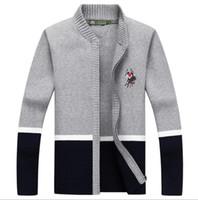 Wholesale Extra Long Coats Women - Factory Direct Sale! 2018 Brand Fashion Sweater Men's Zipper Cardigans Long Sleeve Warm Sweaters Men Coats women sweater