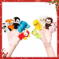 Wholesale Boy Stories - Kids Hand Puppets Finger Doll 10PCS Set Animals Cloth Toys for Baby Boys and Girls Story Time Cartoon Toys
