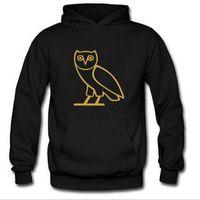 Wholesale Owl Sleeves - Wholesale autumn and winter tide brand men owl Hoodie sleeve slim coat hoody