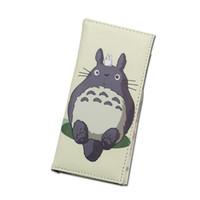 foto de uma peça longa venda por atacado-Lucia's New Arrival Longo Bonito Meu Vizinho Totoro Um Pedaço Conan Homens Carteiras Mulheres Bolsa Dinheiro Foto Bolsos Titular de Cartões de Grande Capacidade