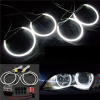 Wholesale Bmw E34 Ring - 4x CCFL Angel Eye Halo Ring Bulb Lamp 7000K White For BMW E30 3 E32 7 E34 E39 5 order<$18no track