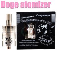 clone de doge venda por atacado-Atacado-mais novo Doge V2 RDA Rebuidable atomizador DOGE V2 Dripper atomizador clone SS preto cobre com embalagem de caixa de presente para modificação mecânica