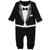 Wholesale White Overalls Baby Boy - New Cotton Newborn Baby Boy Girl Clothing Clothes Rompers Creeper Jumpsuit overalls Baby Romper