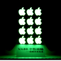 Wholesale Diy Decorations For Iphone - Wholesale-2016 New Arrival Fahion DIY Decoration Luminous Logo stickers for Apple iphone 6 plus   6s plus Logo Label Decal