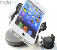 Wholesale Suction Ball Stand For Iphone - Universal 360 Degree Windshield Car Suction Mount Stand Holder For Moblie Phone Iphone GPS 5pcs Build in ball adjustment for easy adjusting