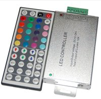 12v cmos Canada - Wholesale-infrared aluminum shell 44keys 12V 12A 3 CMOS Drain -Open Out Put controller for led strips light