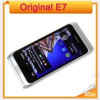 Wholesale E7 Mobile Phone - Original E7 Nokia Mobile Phone Camera 8MP GPS WIFI 16GB Storange Nokia Smart refurbished mobile Phone