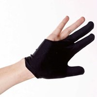 Wholesale-10pcs X Cue Billiard Pool Shooters 3 Fingers Handschuhe Schwarz